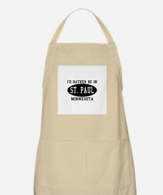I'd Rather Be in St. Paul, Mi BBQ Apron