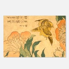 Peony and Canary by Hokus Postcards (Package of 8)