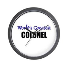 Worlds Greatest COLONEL Wall Clock