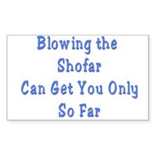 Blowing the Shofar Rectangle Decal