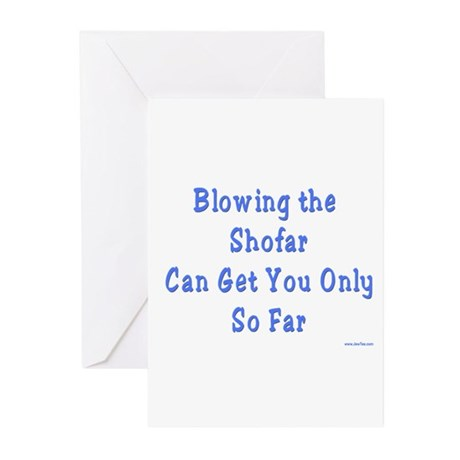 Blowing the Shofar Greeting Cards (Pk of 10)