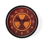 Wood Inlay Radiation Wall Clock