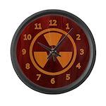 Wood Inlay Radiation Large Wall Clock