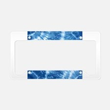 Shibori License Plate Holder