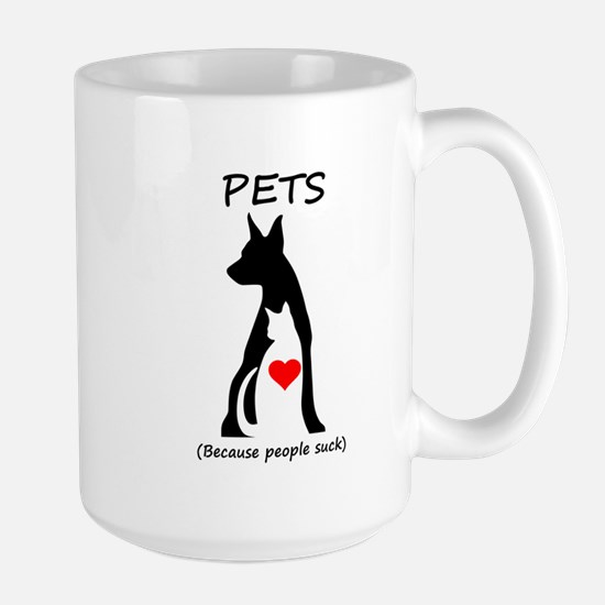 Pets-People Suck Large Mug