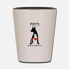 Pets-People Suck Shot Glass
