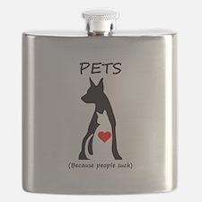Pets-People Suck Flask