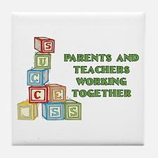Parents Teachers Success Tile Coaster