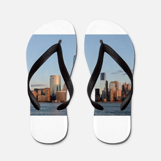 Lower Manhattan Skyline, New York City Flip Flops