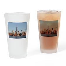 Lower Manhattan Skyline, New York C Drinking Glass