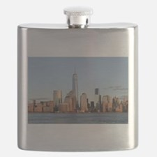 Lower Manhattan Skyline, New York City Flask