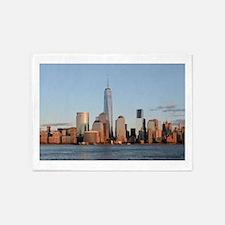 Lower Manhattan Skyline, New York C 5'x7'Area Rug