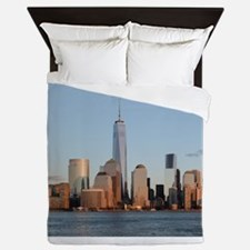 Lower Manhattan Skyline, New York City Queen Duvet