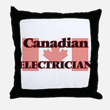 Canadian Electrician Throw Pillow