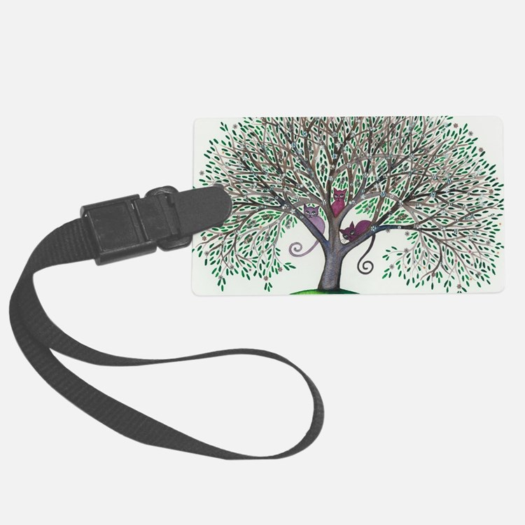 Morovis Stray Cats in Tree Luggage Tag