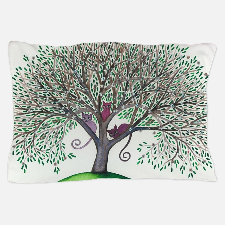 Morovis Stray Cats in Tree Pillow Case