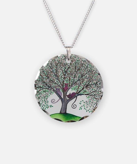 Morovis Stray Cats in Tree Necklace
