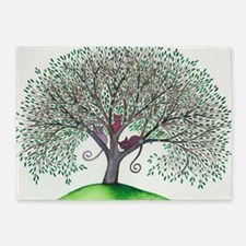 Morovis Stray Cats in Tree 5'x7'Area Rug