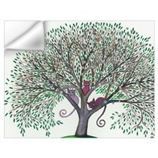 Morovis Stray Cats in Tree Wall Decal