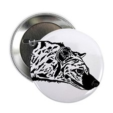 Black and White Hyena Button (10 pack)