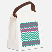 Miami Beach Zigzags Canvas Lunch Bag