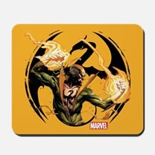 Iron Fist Glowing Fists Mousepad