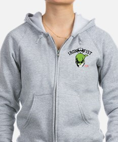 Iron Fist Head Zip Hoodie