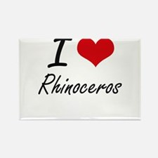 I love Rhinoceros Artistic Design Magnets