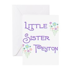 Little Sister Peyton Greeting Cards (Pk of 10)