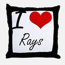 I love Rays Artistic Design Throw Pillow