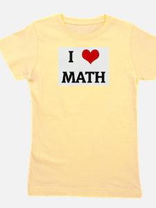 Cute I love teaching math Girl's Tee
