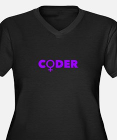 Female Coder (Pink) Plus Size T-Shirt
