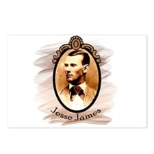 Jesse James Portrait Postcards (Package of 8)
