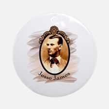 Jesse James Portrait Ornament (Round)
