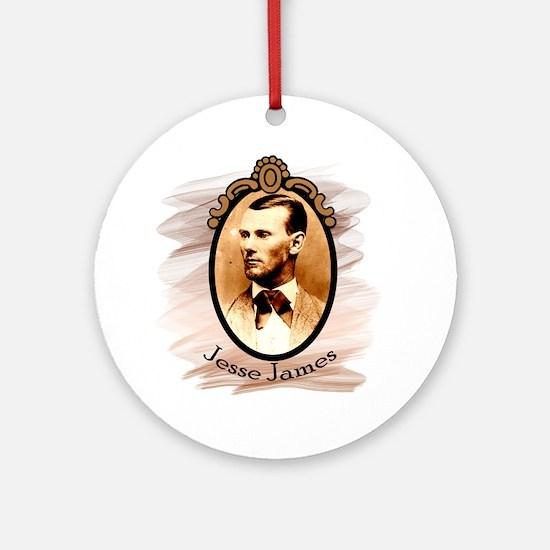 Jesse James Portrait Ornament (Round)