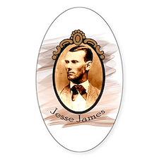 Jesse James Portrait Oval Decal