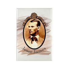 Jesse James Portrait Rectangle Magnet