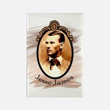 Jesse James Portrait Rectangle Magnet
