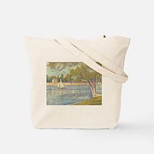 Seine at Grande Jatte by Seurat Tote Bag