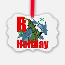 B Holiday Ornament