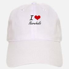 I love Narwhals Artistic Design Baseball Baseball Cap