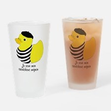 French Rubber Ducky Drinking Glass