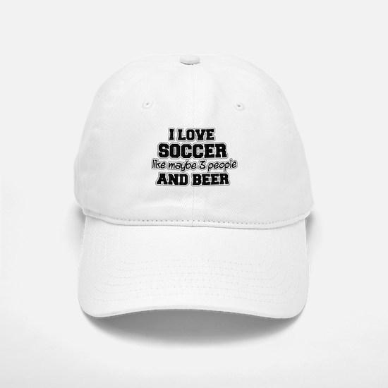 I Love Soccer Baseball Baseball Cap