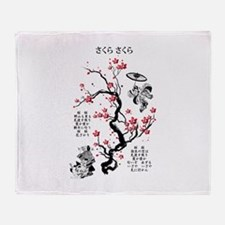 Sakura Sakura Throw Blanket