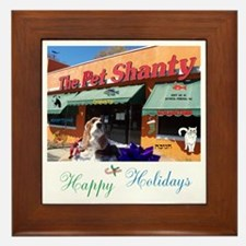 Happy Holidays The Pet Shanty. Framed Tile