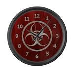 Wood & Metal Biohazard Large Wall Clock