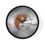Wood Steel Yin Yang Wall Clock