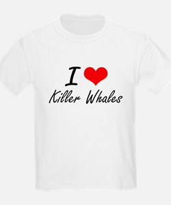 I love Killer Whales Artistic Design T-Shirt