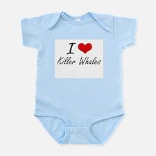 I love Killer Whales Artistic Design Body Suit