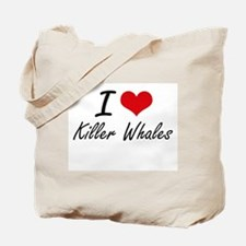 I love Killer Whales Artistic Design Tote Bag